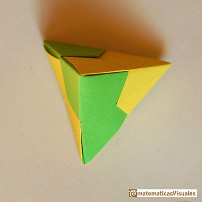 How to make origami tetrahedron  YouTube