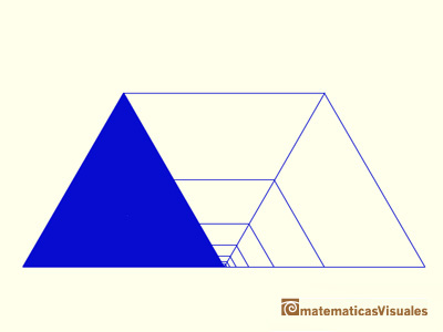 This convergent series of ration 1/4 sums 1/3 | matematicasvisuales