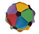 Resources: Building polyhedra gluing discs  | matematicasVisuales