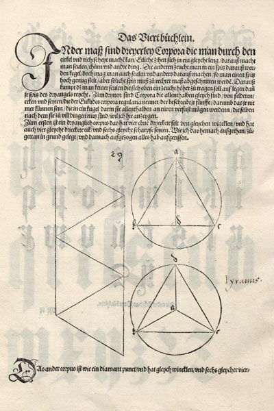Tetrahedron plane net: plane net of an tetrahedron by Durer | matematicasVisuales