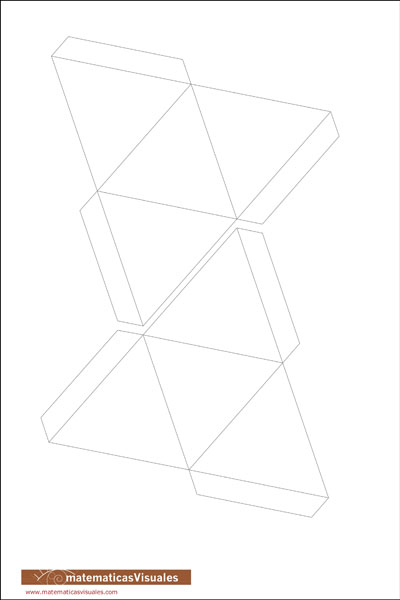 Tetrahedron plane net: download a plane net of a tetrahedron to build | matematicasVisuales