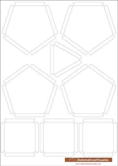 Construcción de poliedros con cartulina y gomas elásticas: Download, print, cut and build | matematicasVisuales