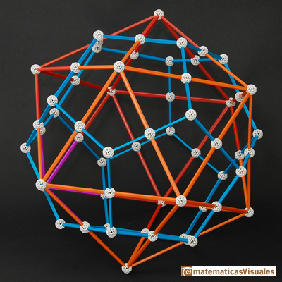 Dodecahedron: dodecahedron and icosahedron duality, zome model  | matematicasVisuales