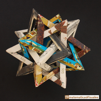 Dodecaedro: five tetrahedra inside a dodecahedron, origami | matematicasVisuales