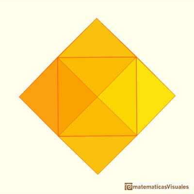 Pyramidated cube and Rhombic Dodecahedron: only twelve faces that are rhombuses | matematicasvisuales