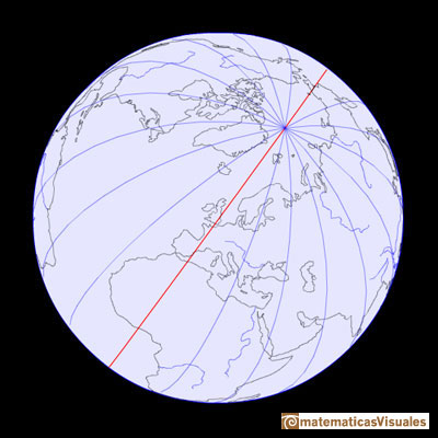 Sphere, the Earth, latitude, longitude | circles of longitud, meridians, Prime Meridian, Greenwich | matematicasvisuales