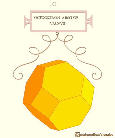 Leonardo da Vinci: Truncated Octahedron. Images manipulating the interactive application | matematicasvisuales